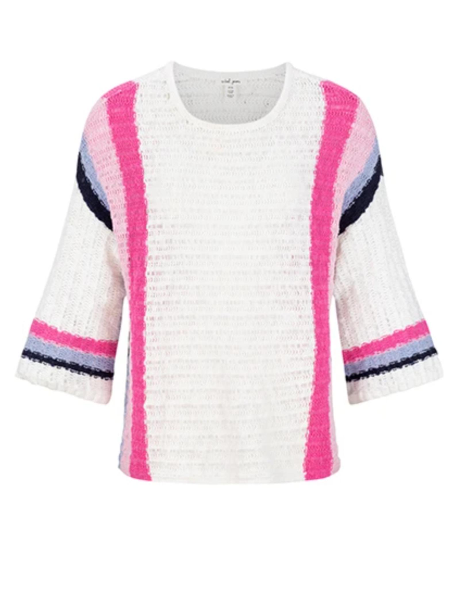 Tribal Wide Sleeve Stripe Sweater