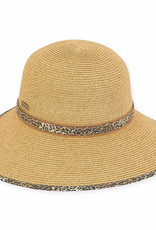 Paper Braid Backless Hat Tan