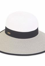 Sunsaver Backless Hat Grey/White