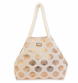 Gold Shells Shoulder Tote