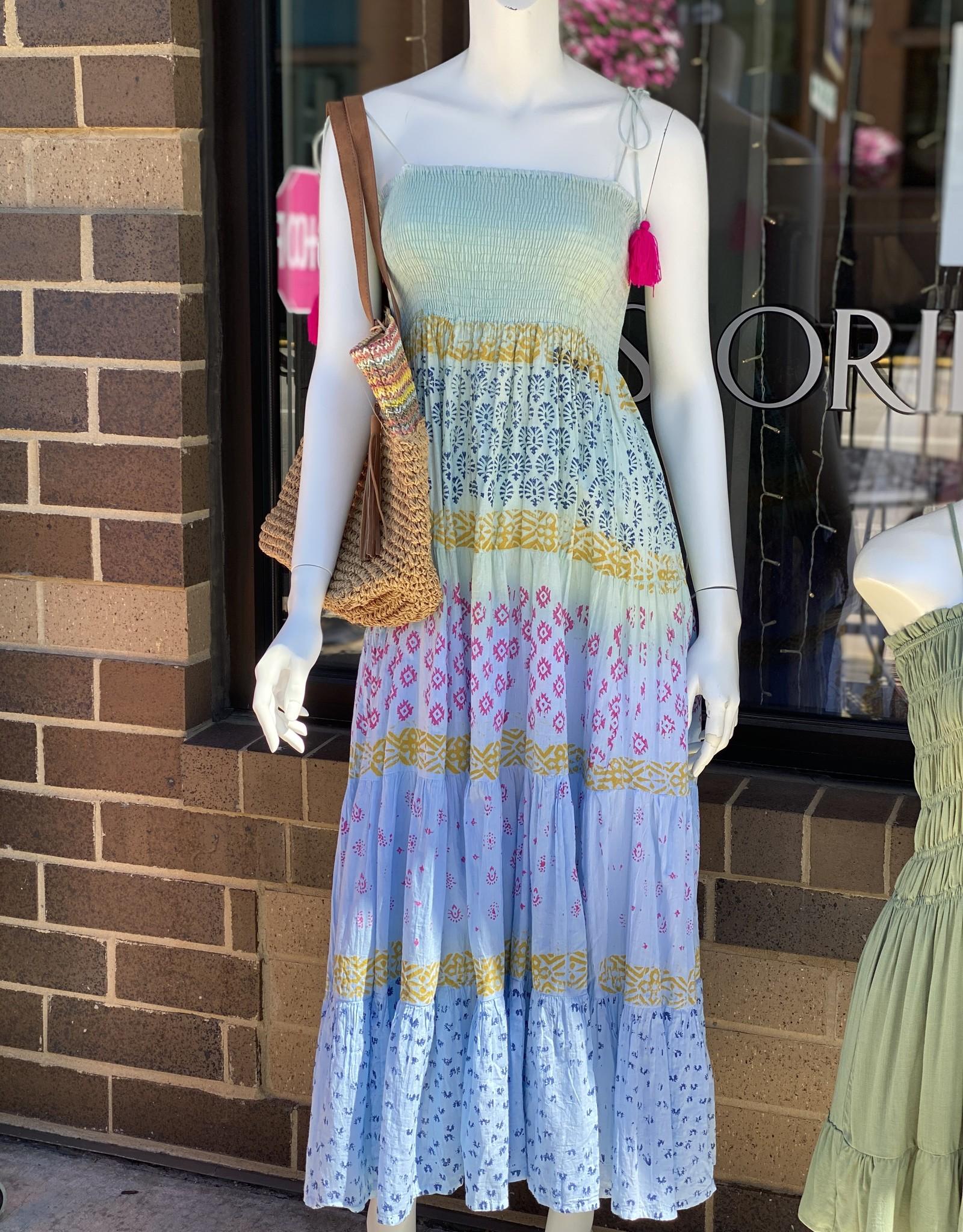 The Blues Maxi Cotton Dress OS
