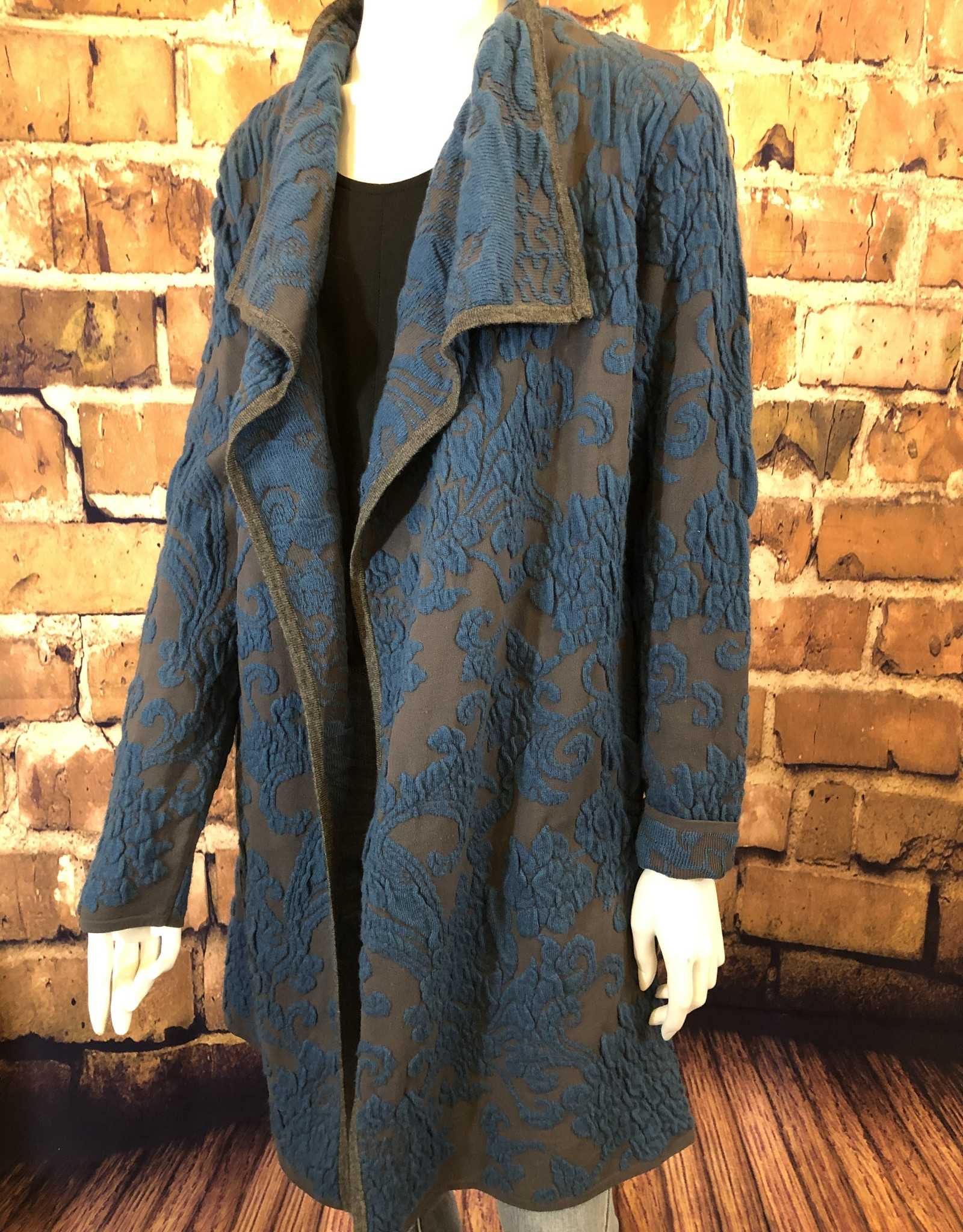 Paisley Jacquard Coat One Size