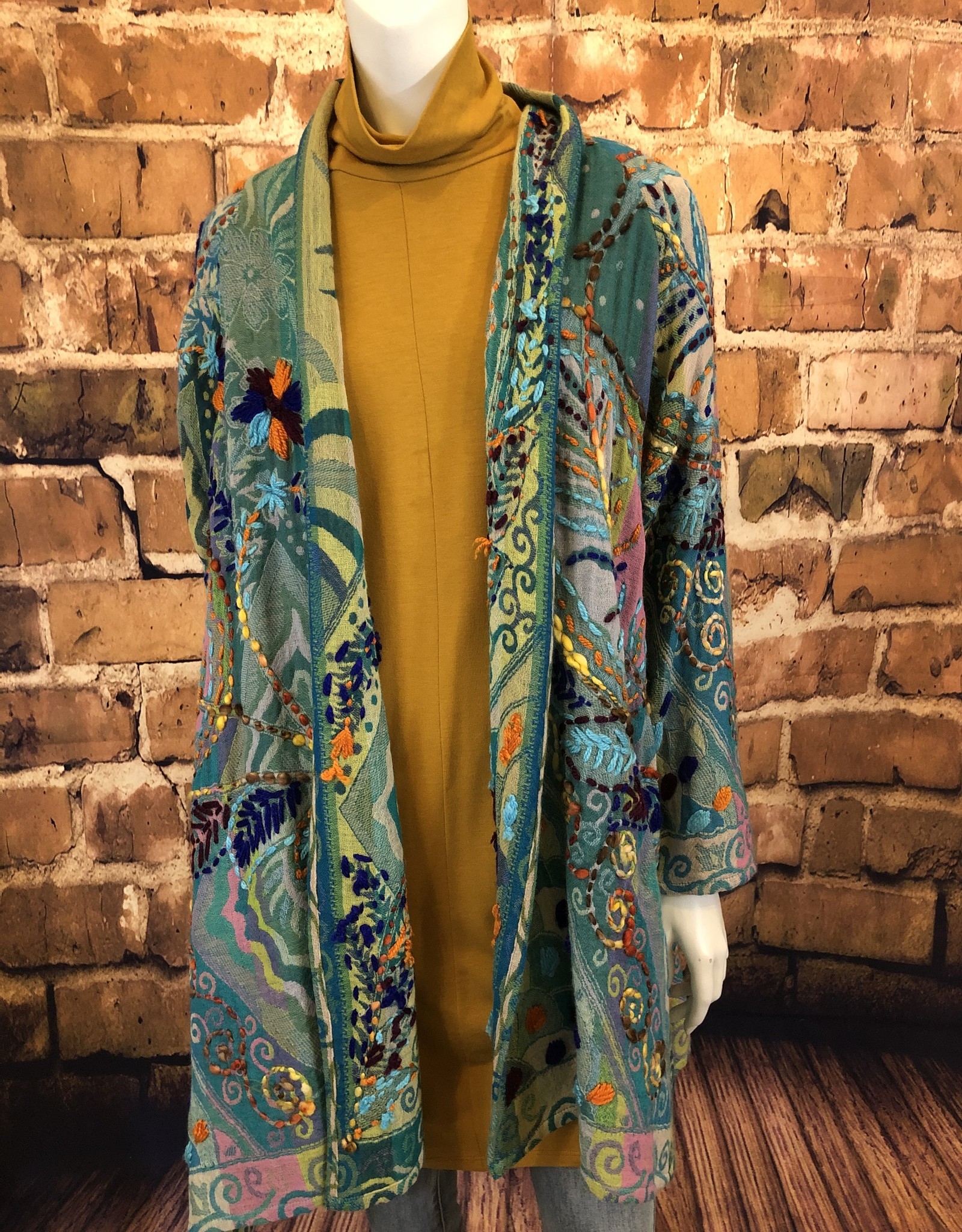Verbena Embroidered Duster