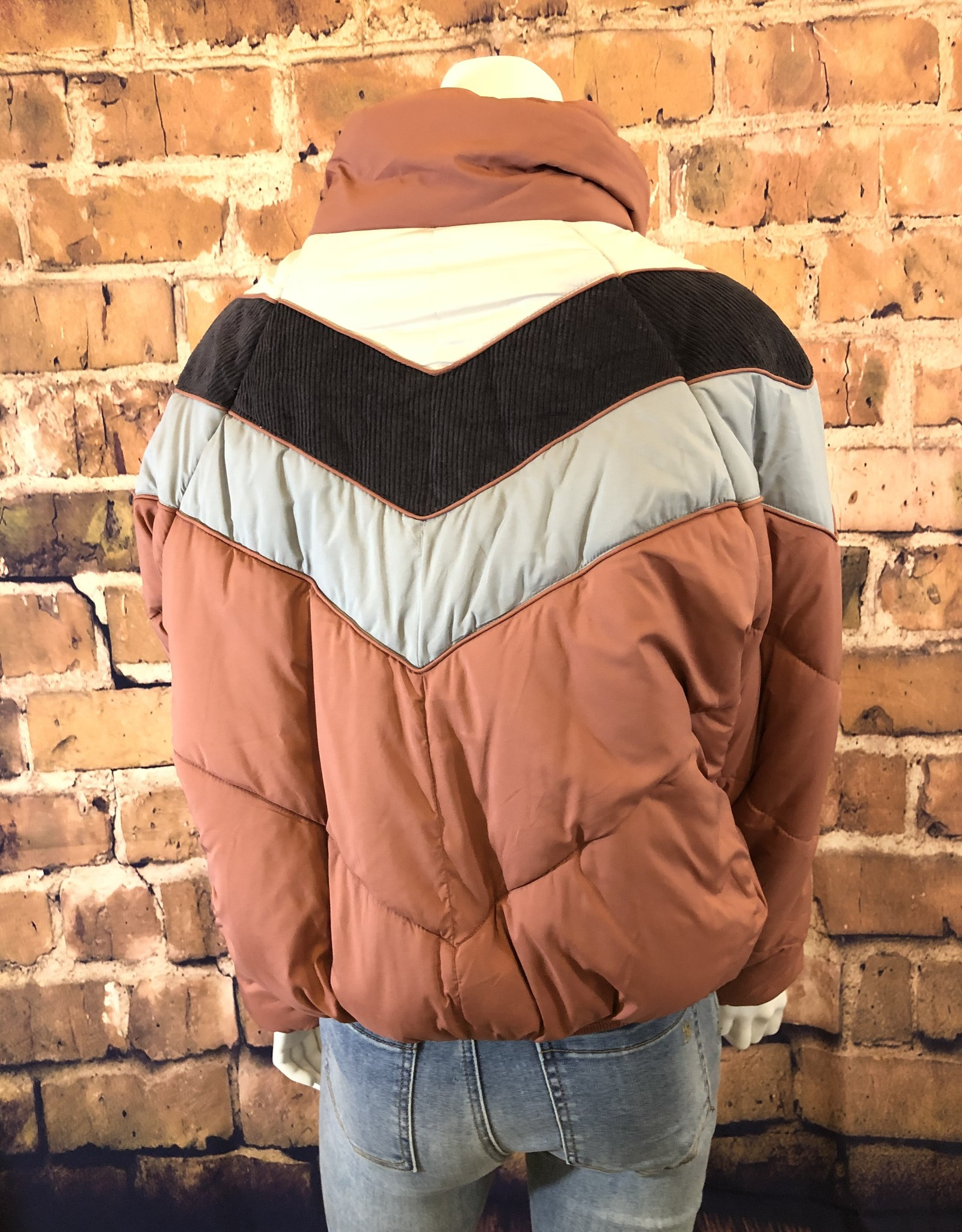 Block Short Puffer Jacket