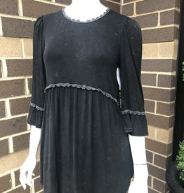 Black Knit 3/4 Sleeve Tunic