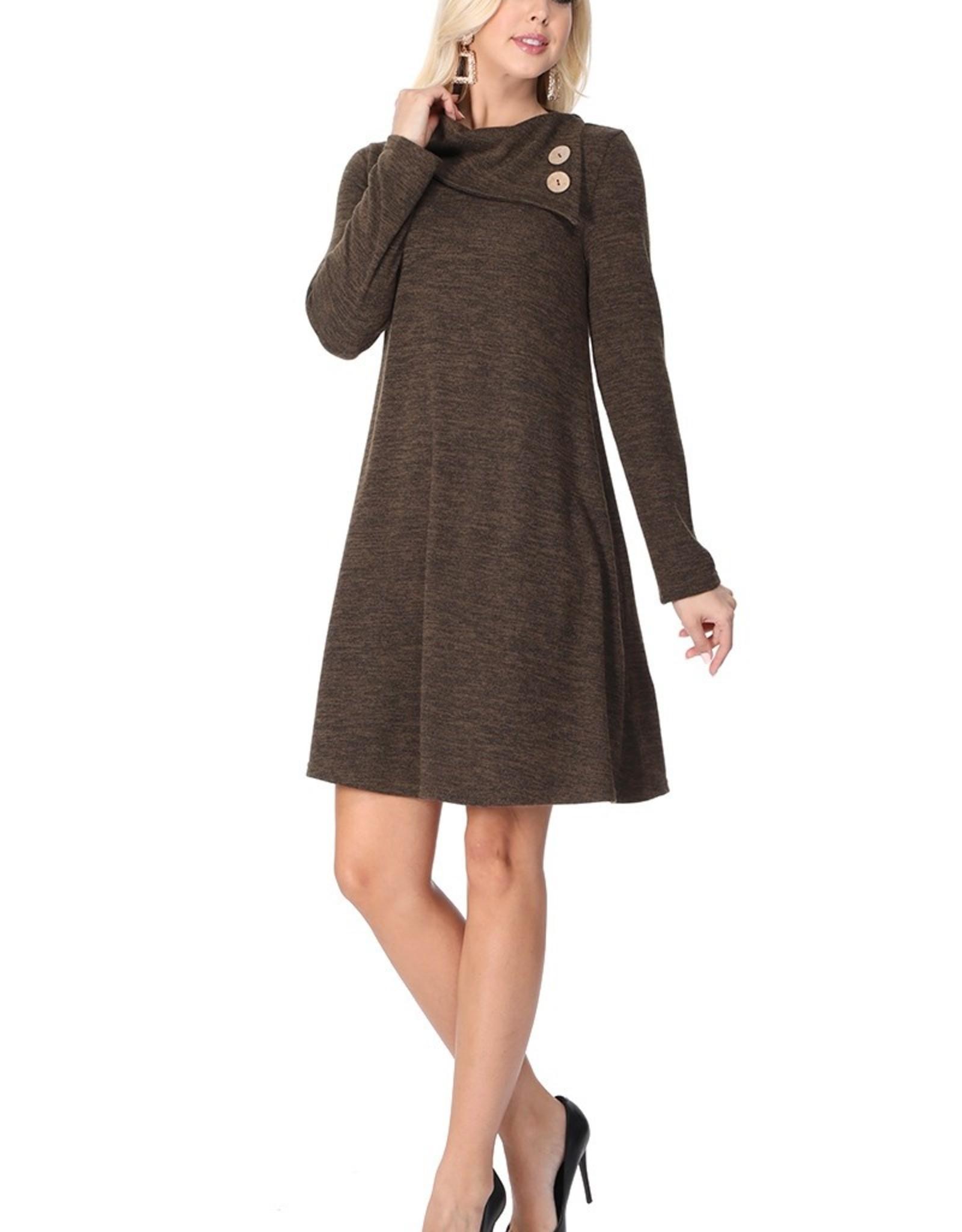 Alicia Cowl Neck Knit Dress