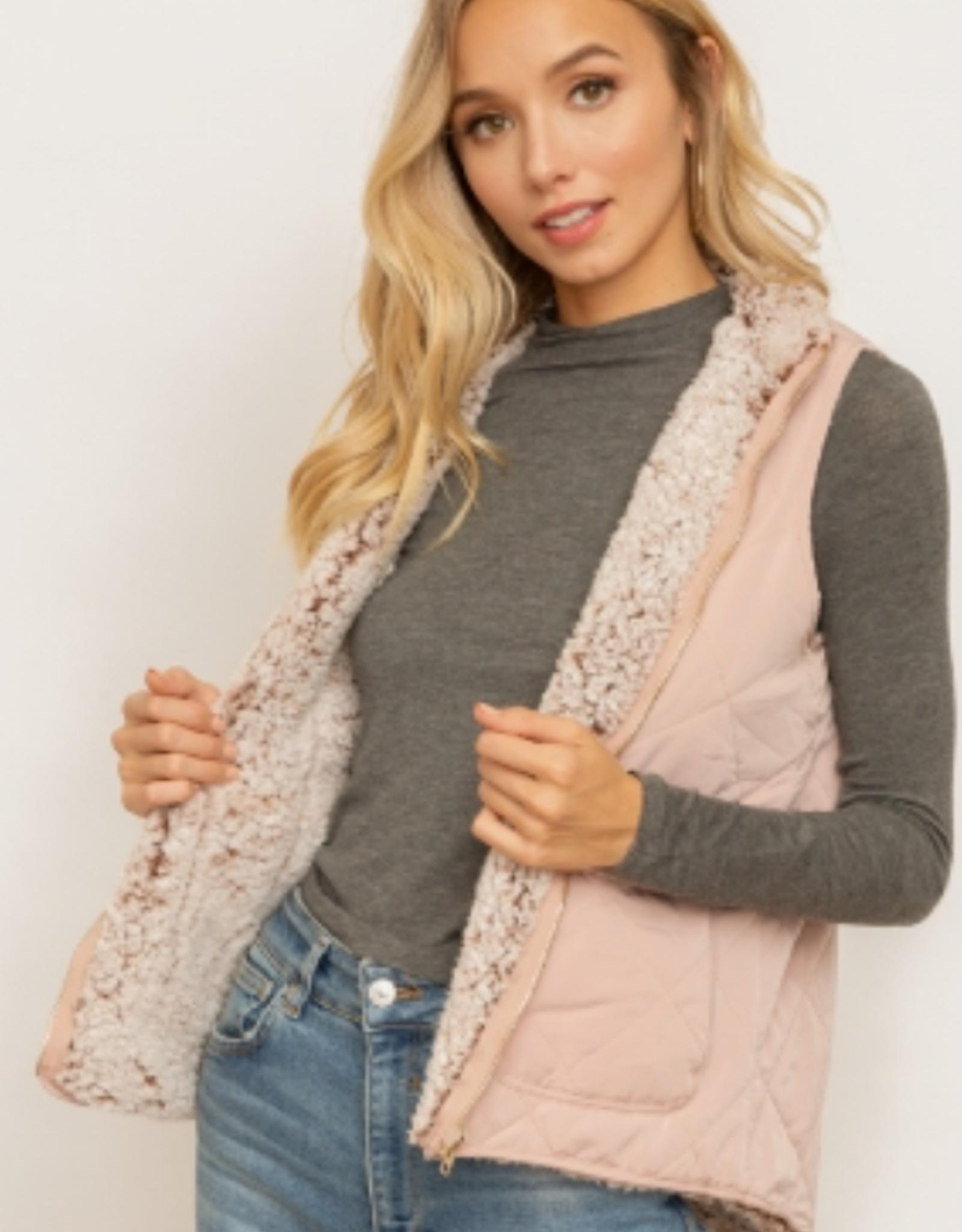 Rose Zip Up Vest