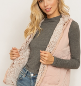 Rose Zip Up Vest