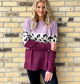 Pull Over Color Block Sweater
