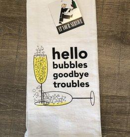 Hello Bubbles Towel