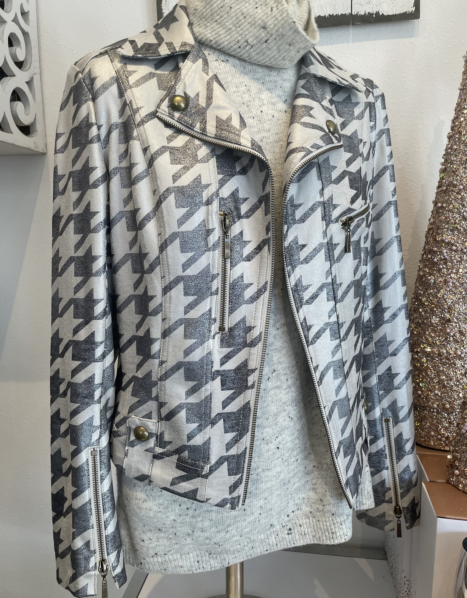 Briana Houndstooth Jacket