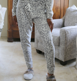 Leopard Brushed Hacci Jogger