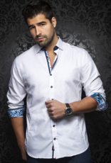 Au Noir Milan Satin Dress Shirt