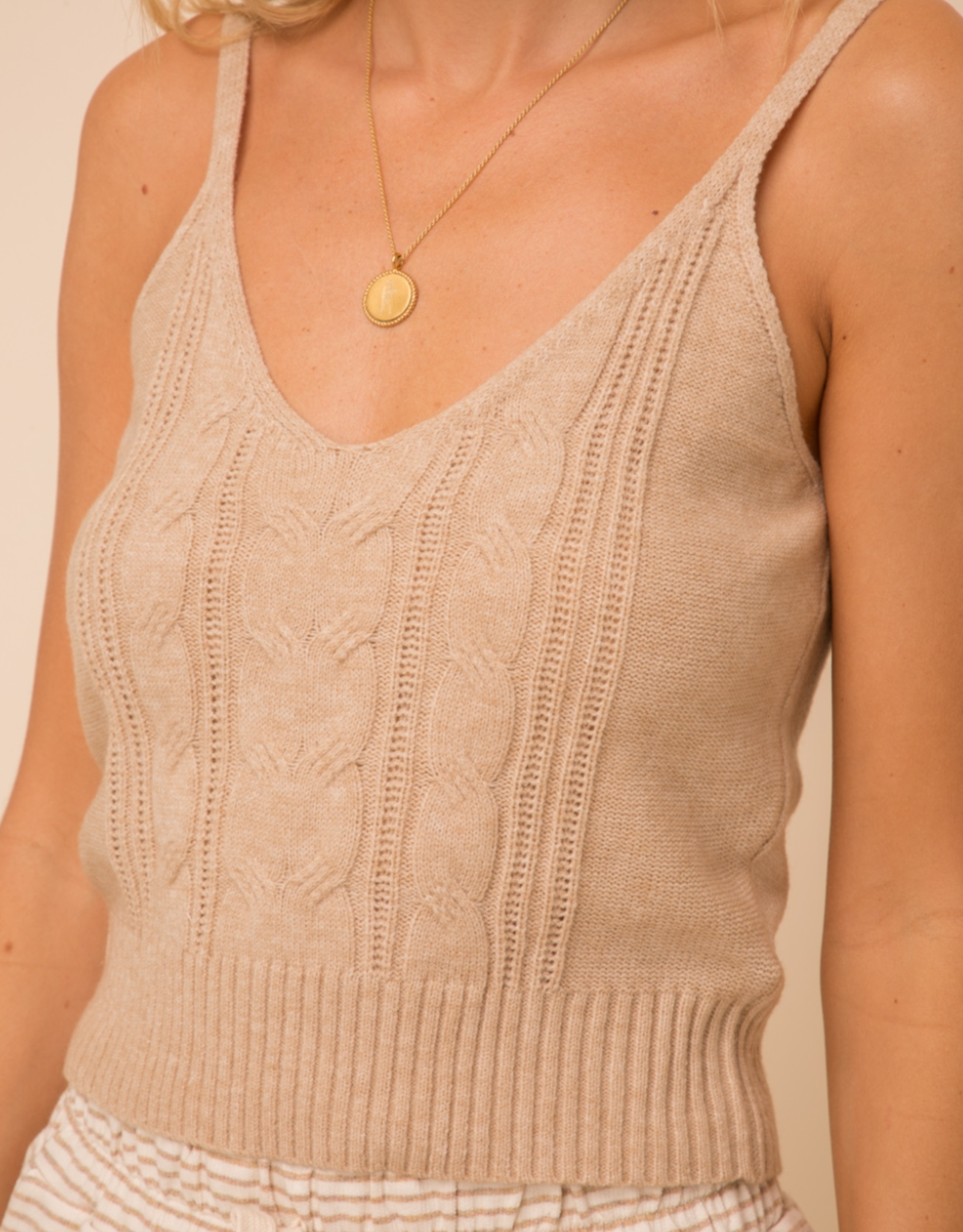 Cable Sweater Tank