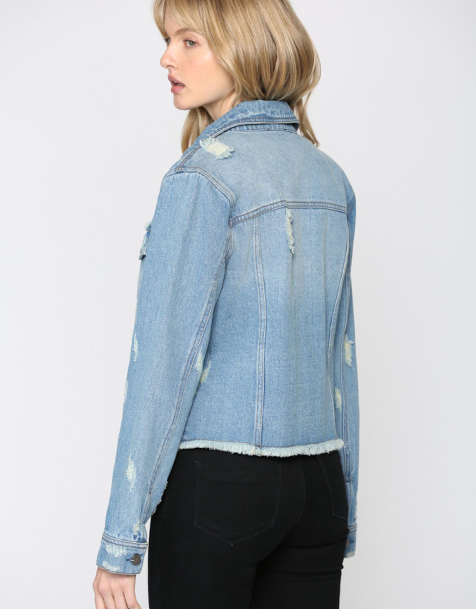 Sydnee Distressed Denim Jacket