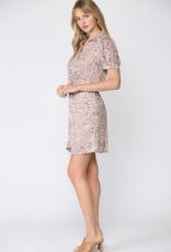 Leopard Floral Print Dress
