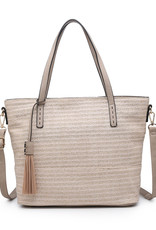August Tote Off White/Gold