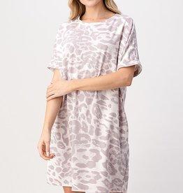 Leopard Tee Shirt Dress