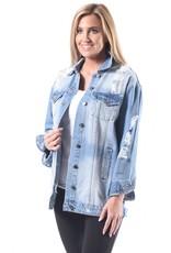 Dakota Long Distressed Denim Jacket