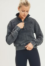 Half Zip Jacquard Pullover