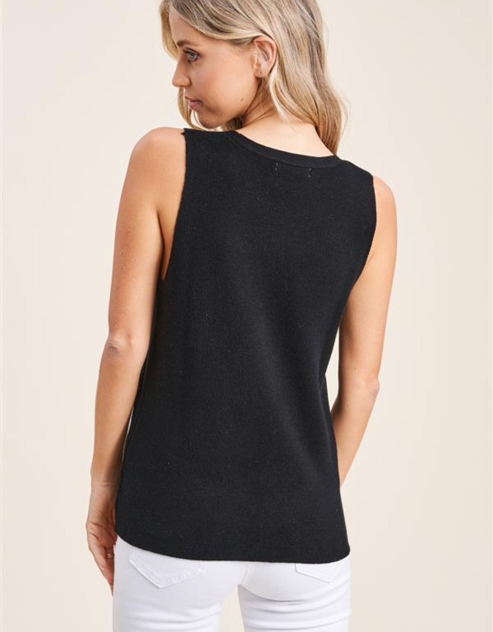 Sleeveless Sweater Top