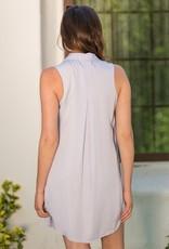Sadie Sleeveless Shirt Dress