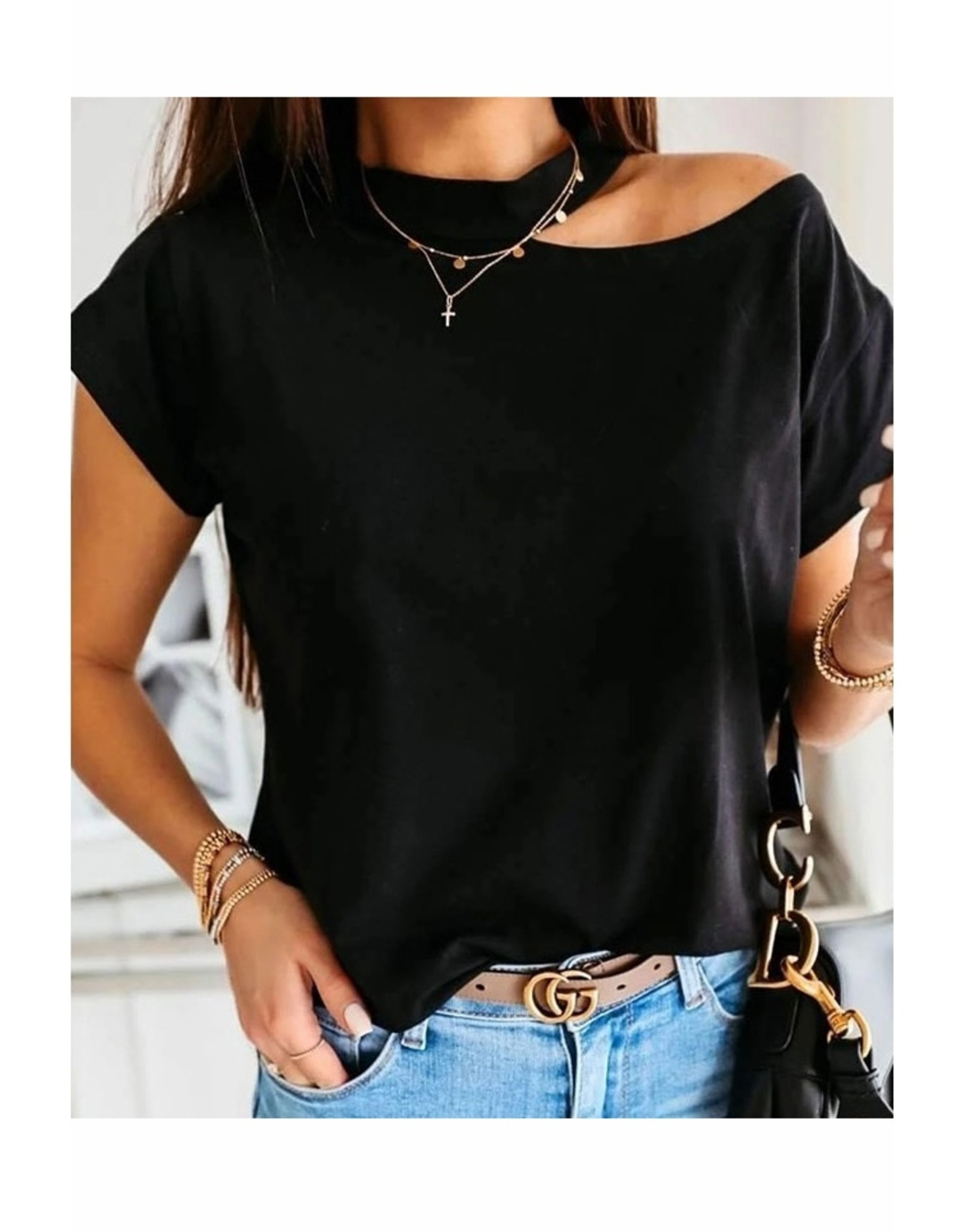 Cassidy Cool Shoulder Tee