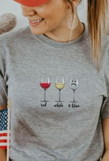 Red White Blue Wine Tee