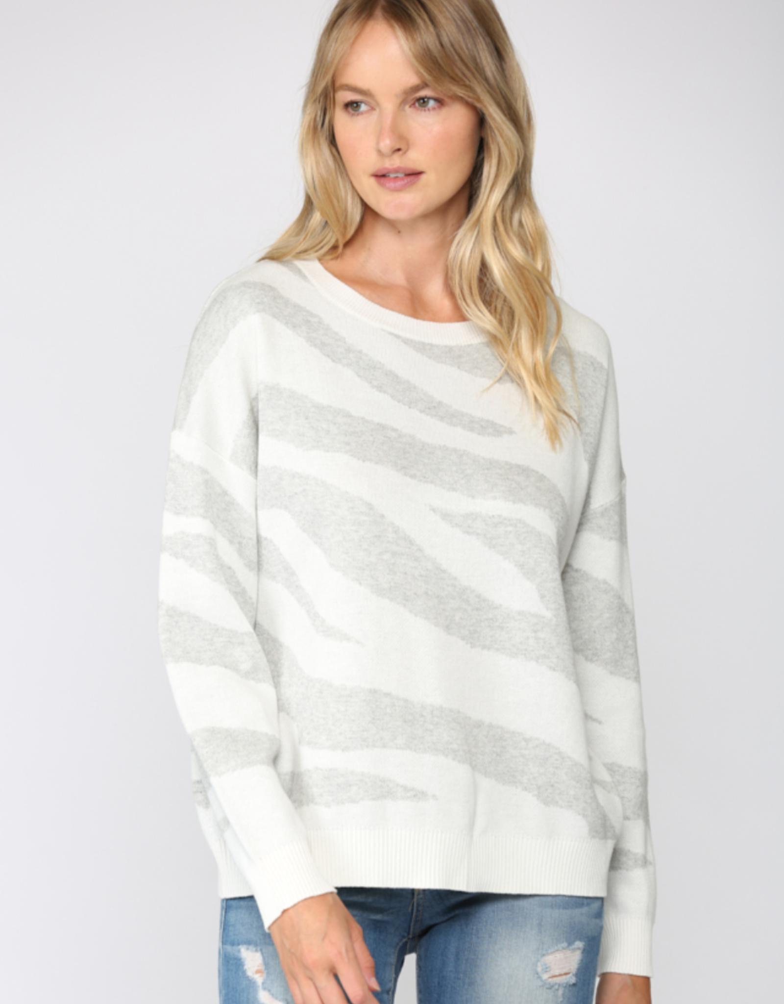 Zebra Knit Sweater