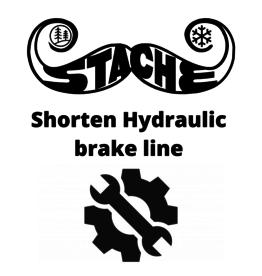 Shorten Hydro brake line