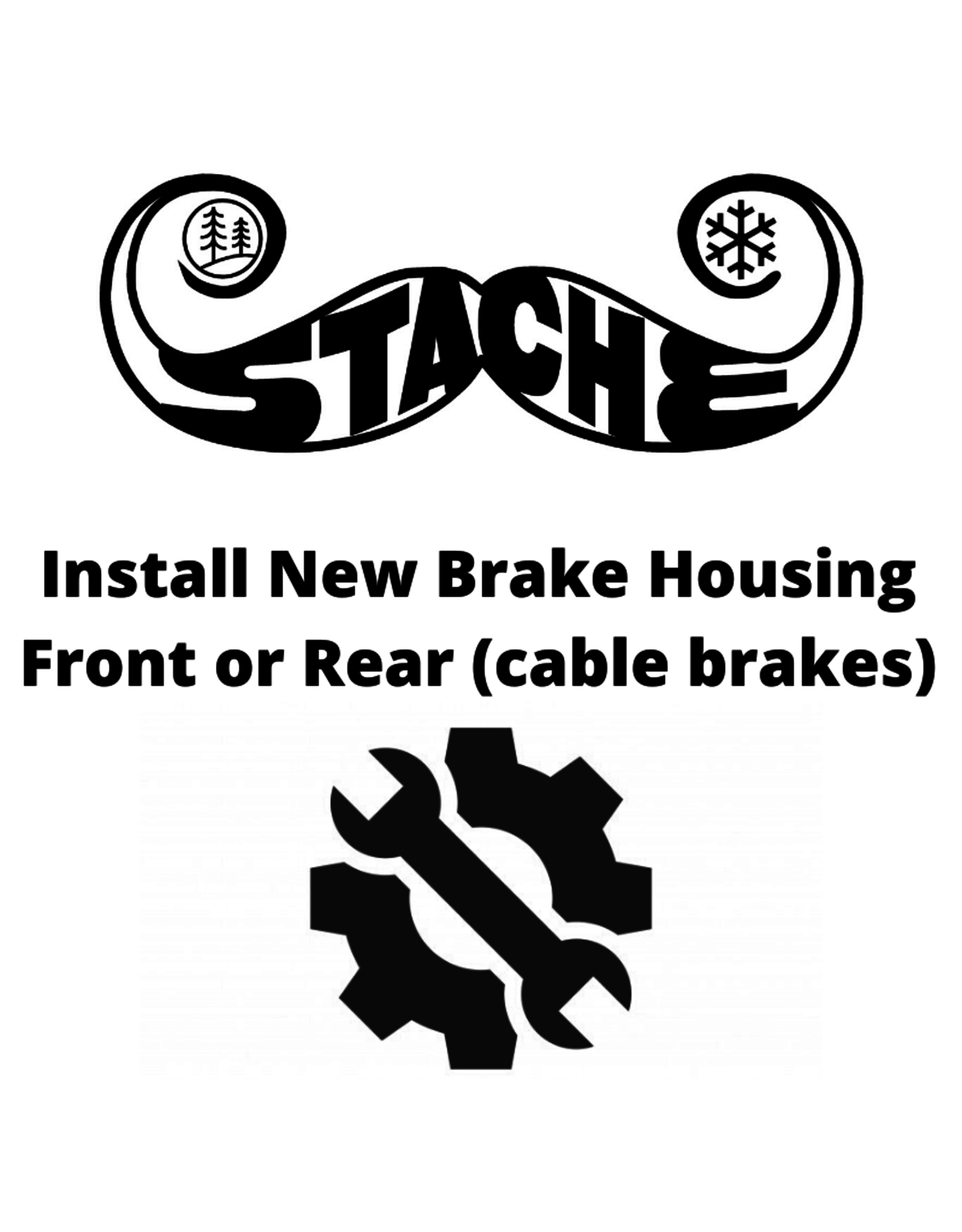 Install New Brake Housing Ft or Rear (cable brakes)