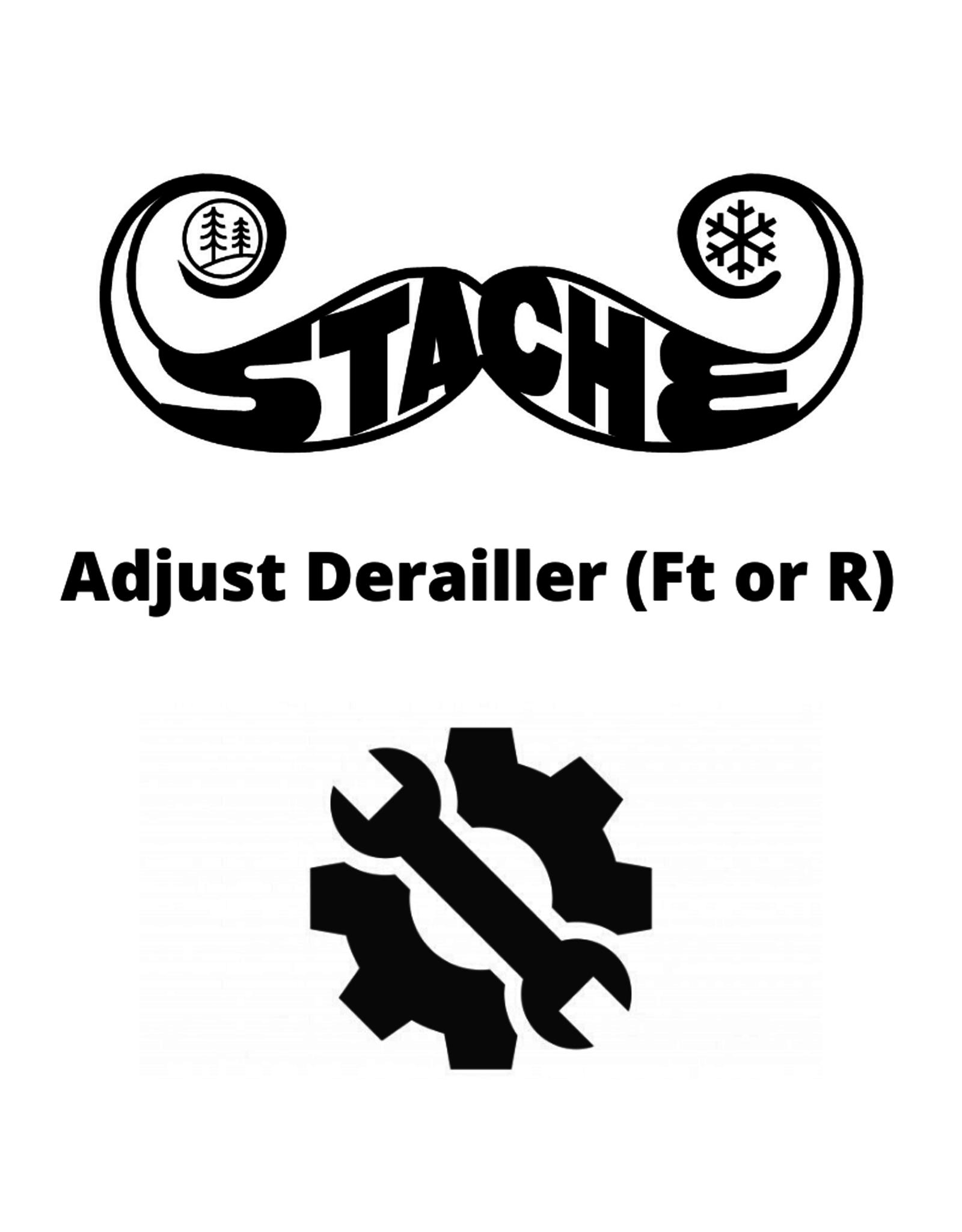 Adjust Derailler (Ft or R)