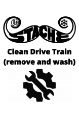 Clean Drive Train (remove and wash)