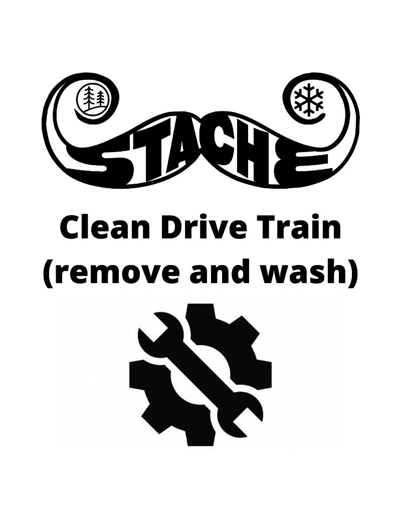 Clean Drive Train (remove and wash)