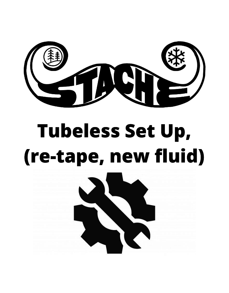 Tubless set up, (re tape or new fluid)