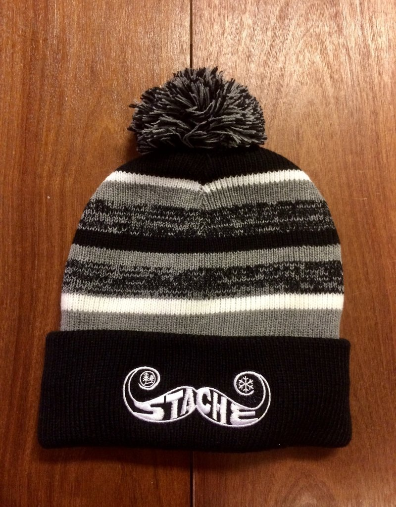 Stache Stache Fleece Pom Hat- Black