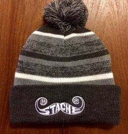 Stache Stache Fleece Pom Hat- Grey