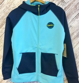 Burton Kids' Crown Bonded Full-Zip Blue L