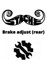 Brake adjust (rear)