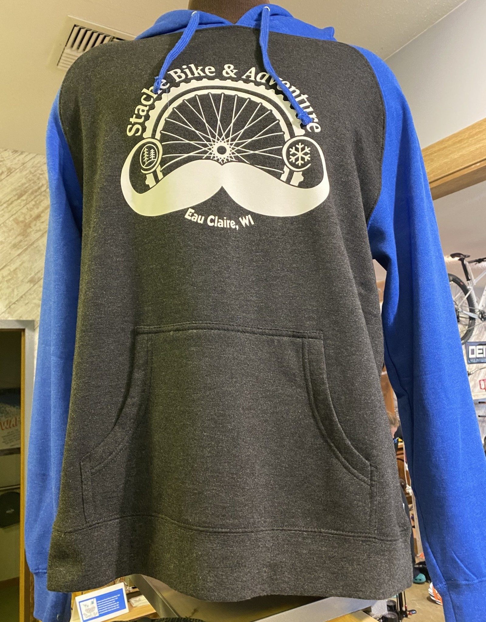 Stache Sweatshirt Blue XL