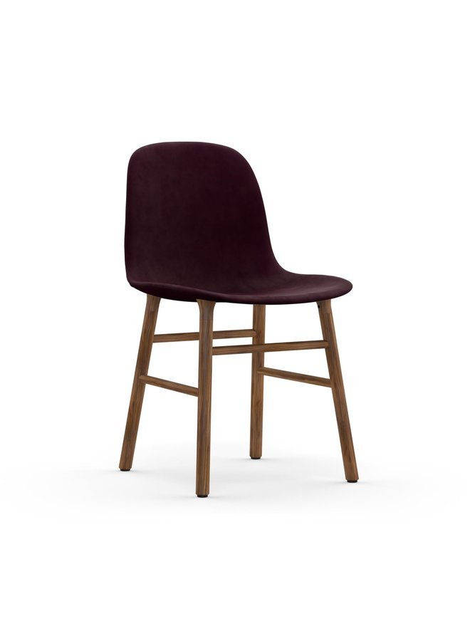 Form Chair Full Upholstery Walnut