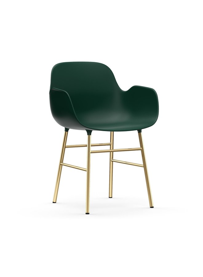Form Armchair Brass