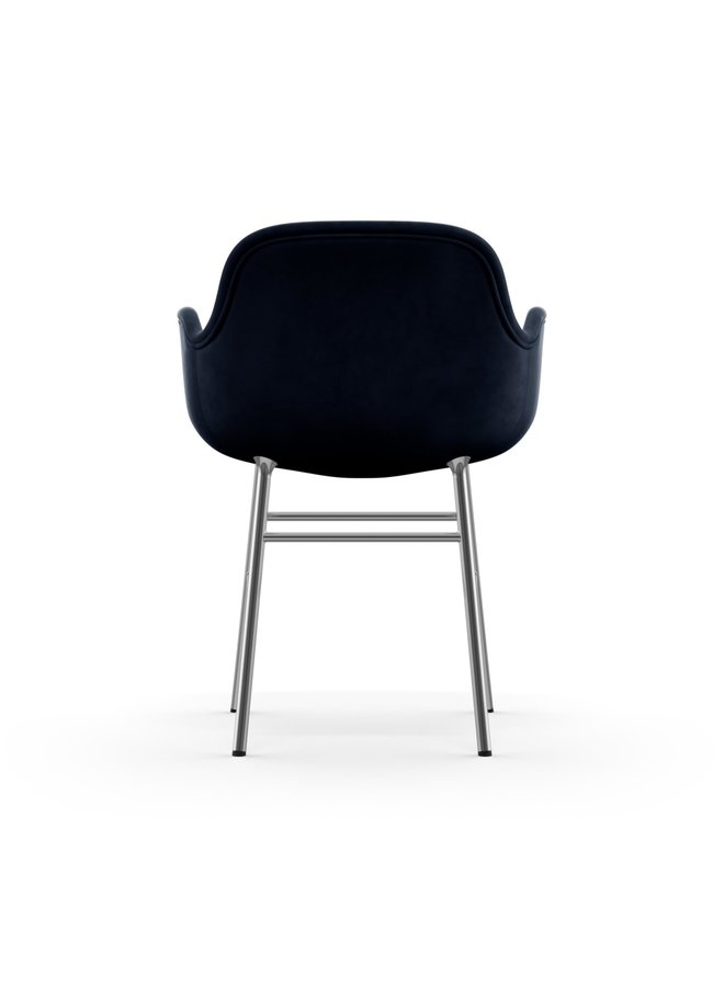 Form Armchair Full Upholstery Chrome