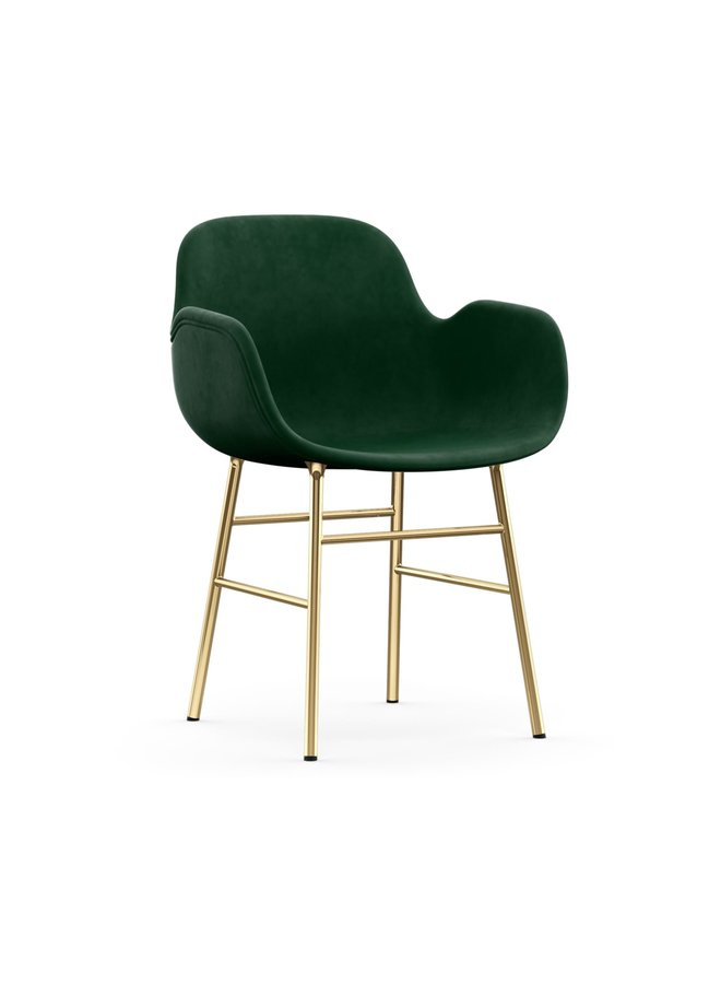 Form Armchair Full Upholstery Brass