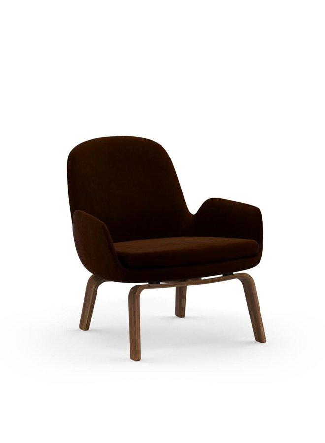 Era Lounge Chair Low w/ Walnut Legs