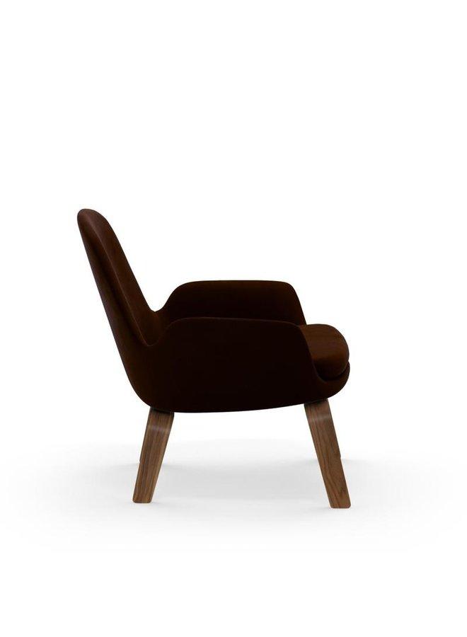 Low Era Lounge Chair Low w/ Walnut Legs