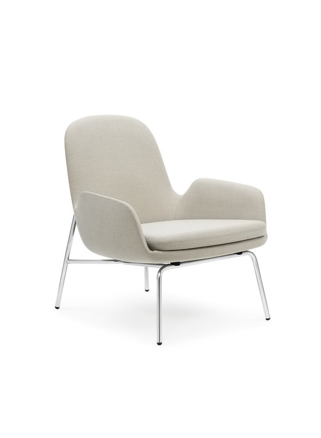 Era Lounge Chair Low Steel & Chrome