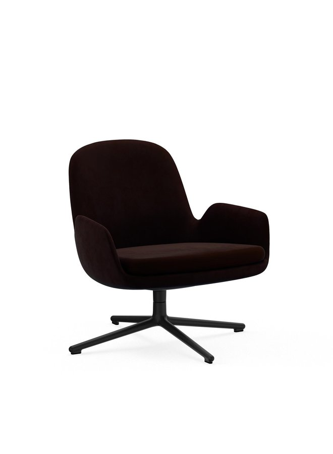 Era Lounge Chair Low Swivel Black Aluminum