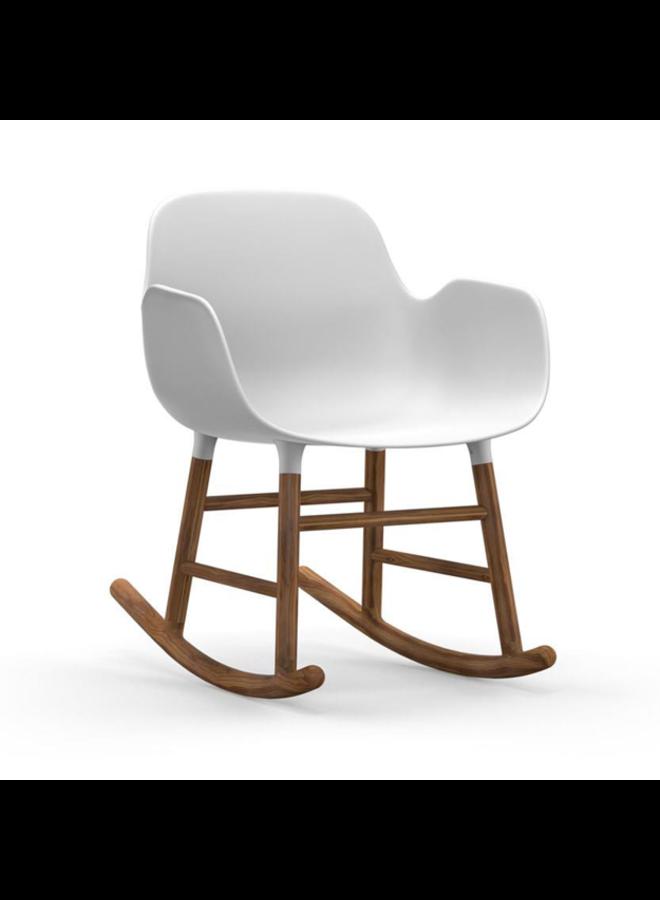 Form Rocking Armchair Walnut