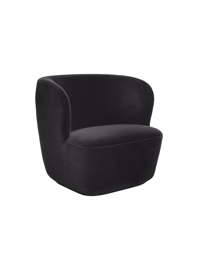 Stay Lounge Chair - Fully Upholstered, Large, Black base
